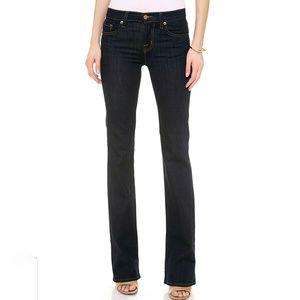 """J Brand 818 Bootcut Jeans in Darker """"Ink"""" Wash"""